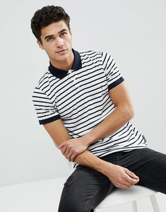 Read more about French connection thin stripe polo shirt - white maring