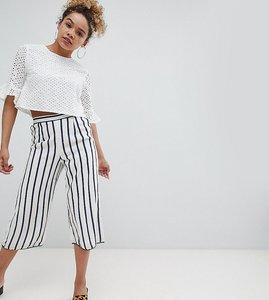 Read more about Miss selfridge petite stripe culotte trousers - multi
