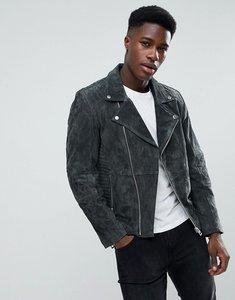 Read more about Esprit suede biker jacket - charcoal 030