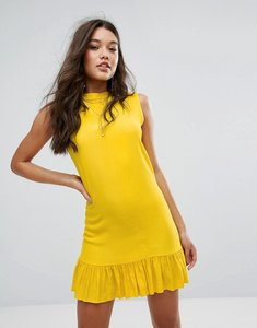 Read more about Missguided drop hem swing dress - yellow