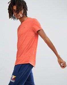 Read more about Tommy jeans flag logo t-shirt in orange marl - spicy orange