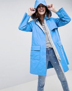 Read more about Esprit hooded mac jacket - blue
