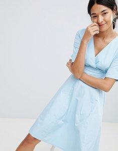 Read more about Uttam boutique v neck skater dress - blue