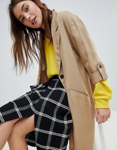 Read more about Bershka waterfall trench - tan