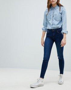 Read more about Bershka worn knee skinny jeans - dark blue