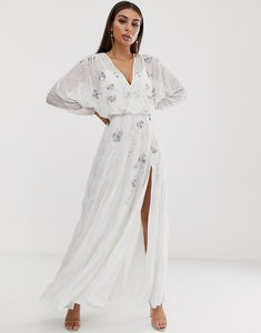 Read more about Asos design batwing maxi dress with delicate occasion embellishment