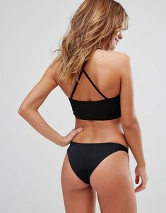 Read more about Missguided mix match cross back bikini top - black
