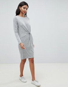 Read more about Esprit twist front knitted dress - grey