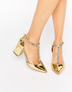 Read more about Asos santiago embellished pointed heels - gold