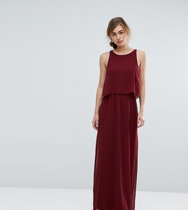 Read more about Silver bloom 2 in 1 maxi dress - burgundy