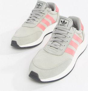 Read more about Adidas originals i-5923 runner trainers in grey and pink - grey