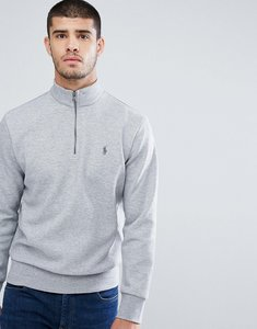 Read more about Polo ralph lauren half zip sweatshirt in light grey marl - andover heather