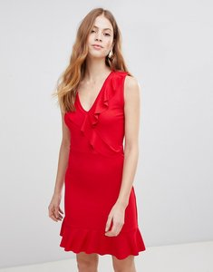 Read more about Vila ruffle sleeveless dress - fiery red