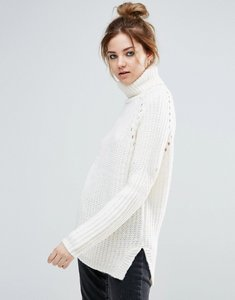 Read more about John jenn sammy lofty overrsized turtleneck jumper - 922 white smoke