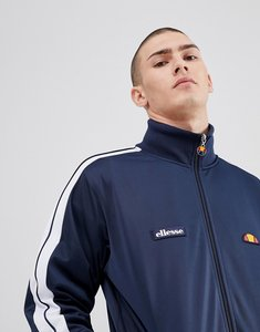 Read more about Ellesse poly tricot track jacket with sleeve taping in navy - navy