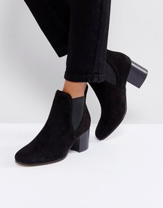 Read more about London rebel heeled chelsea boots - blk micro