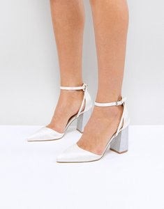 Read more about Be mine bridal lissy ivory satin block heeled shoes - ivory