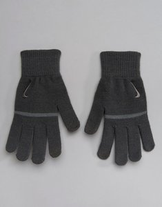 Read more about Nike training striped knitted tech grip gloves in grey wg j0-099d - grey