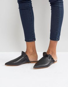 Read more about Depp leather frill mule shoe - black