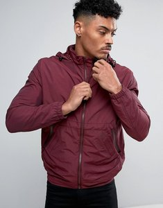 Read more about French connection lightweight harrington jacket with hood - bordeaux