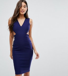 Read more about Vesper cut out midi dress with open back - navy