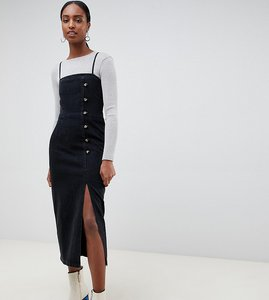 Read more about Asos design tall button side midi dress washed black