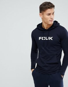 Read more about French connection fcuk long sleeve top with hood - navy