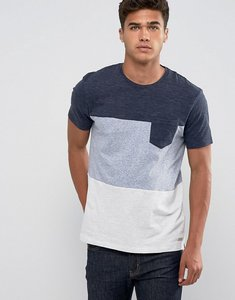 Read more about Esprit t-shirt with block stripe and pocket - navy 400