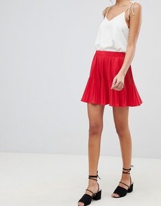 Read more about Asos design pleated mini skirt - red