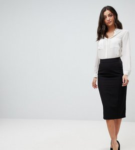 Read more about Asos design tall mix match high waisted pencil skirt - black