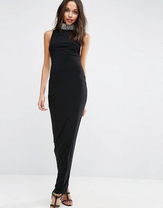 Read more about Asos embellished collar neck maxi dress - black