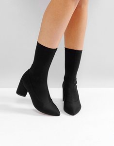 Read more about Raid darcie black heeled sock boots - black