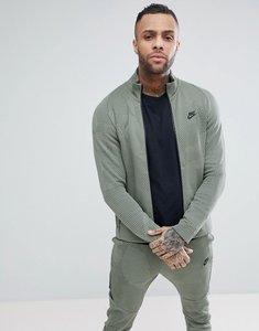 Read more about Nike tech fleece track jacket in green 886172-004 - green