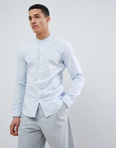 Read more about Tom tailor long sleeve grandad shirt in 100 cotton - 12089