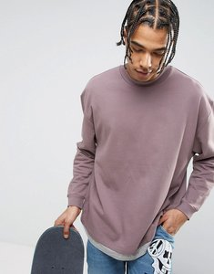 57d01e3d95462 asos super oversized sleeveless t shirt with raw edge in violet grey ...
