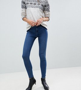 Read more about Vero moda tall super skinny jean with ankle zip - medium blue