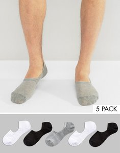 Read more about Asos invisible socks in mini waffle 5 pack - multi