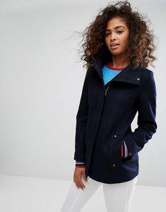 Read more about Esprit zip front wool coat - navy