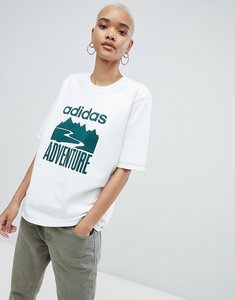 Read more about Adidas originals adventure oversized t-shirt in white - white