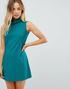 Read more about Glamorous roll neck shift dress - teal
