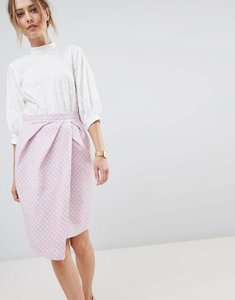 Read more about Closet london wrap midi skirt - pink