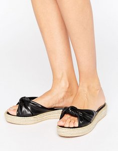 Read more about Missguided knot front slider - black