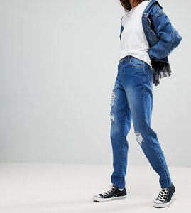 Read more about Kubban tall core destroyed mom jeans