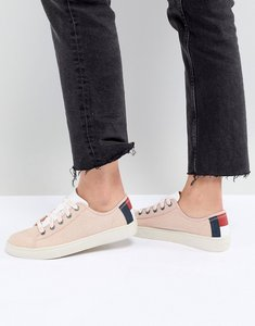 Read more about Tommy jeans trainers with flag heel detail - pink