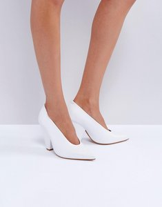 Read more about Asos palette leather heels - white
