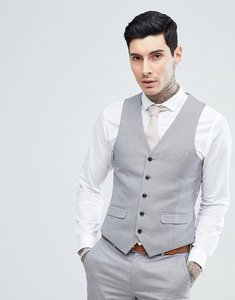 Read more about Harry brown lilac puppy tooth wedding skinny fit suit waistcoat - purple