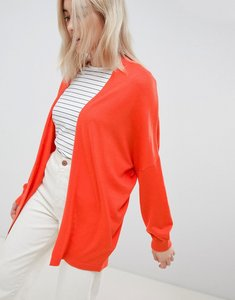 Read more about Asos design eco cardigan in oversize fine knit - tomato