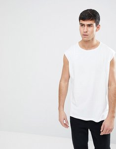 Read more about Brave soul raw edge sleeveless vest - white