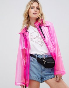 Read more about Asos design rain jacket with contrast binding - pink