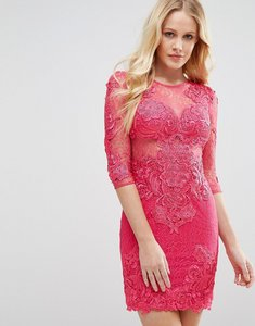 Read more about Forever unique all over lace dress - fushia